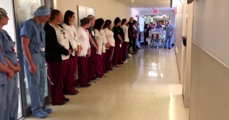 Devenue donneuse d'organes à sa mort, une infirmière a eu le droit à une grande haie d'honneur par ses anciens collègues