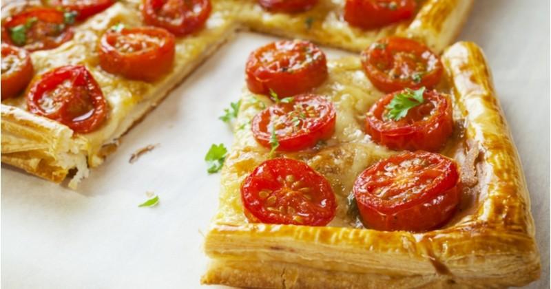 La tarte feuilletée tomates cerises et parmesan : elle vous fera fondre !