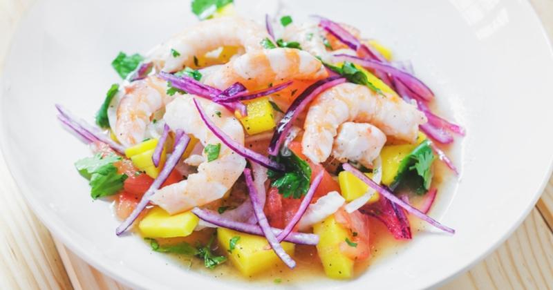 Le Ceviche crevettes, mangue et avocat pour un repas plein de fraîcheur tout en douceur !