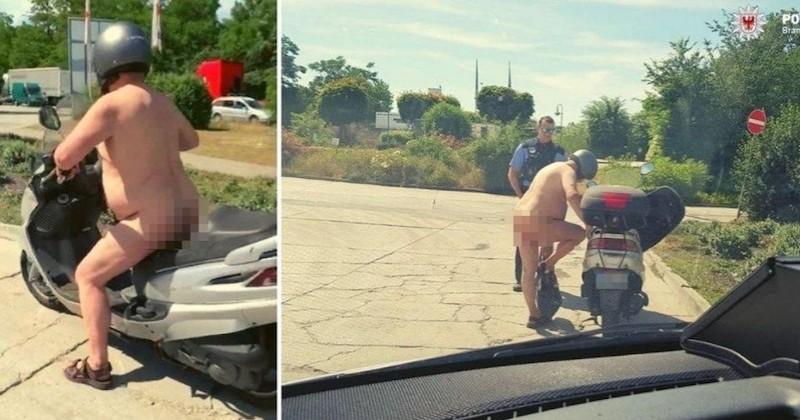 « Ben il fait chaud, nan ? », quand un homme nu en scooter se justifie face à la police