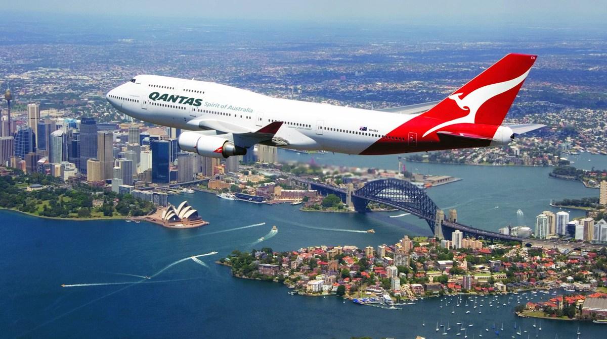 Carte Vol Qantas Australie.17 Heures Et 20 Minutes Pour Le Premier Vol Commercial De L