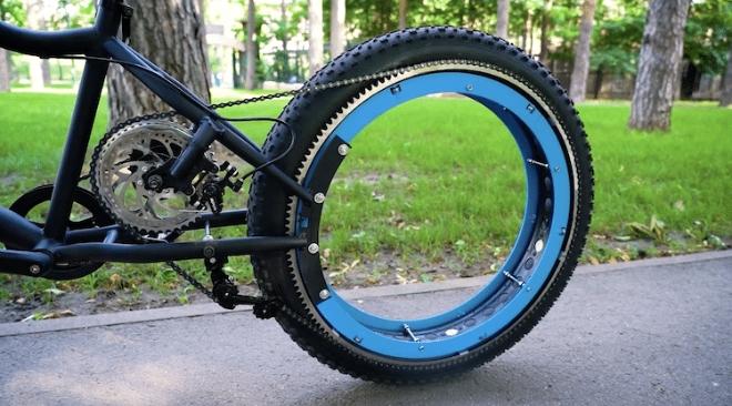 Sans moyeu et sans rayons sur ses roues The-q-hubless-bike-1