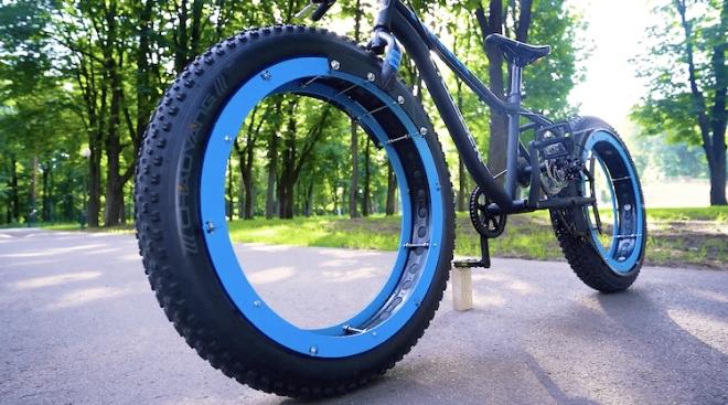 Sans moyeu et sans rayons sur ses roues The-q-hubless-bike-2