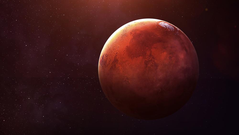Un immense lac d'eau liquide découvert sous la surface de Mars