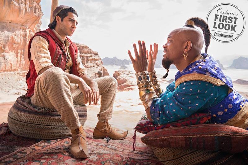 Aladdin : Will Smith en Génie. Les premières photos !