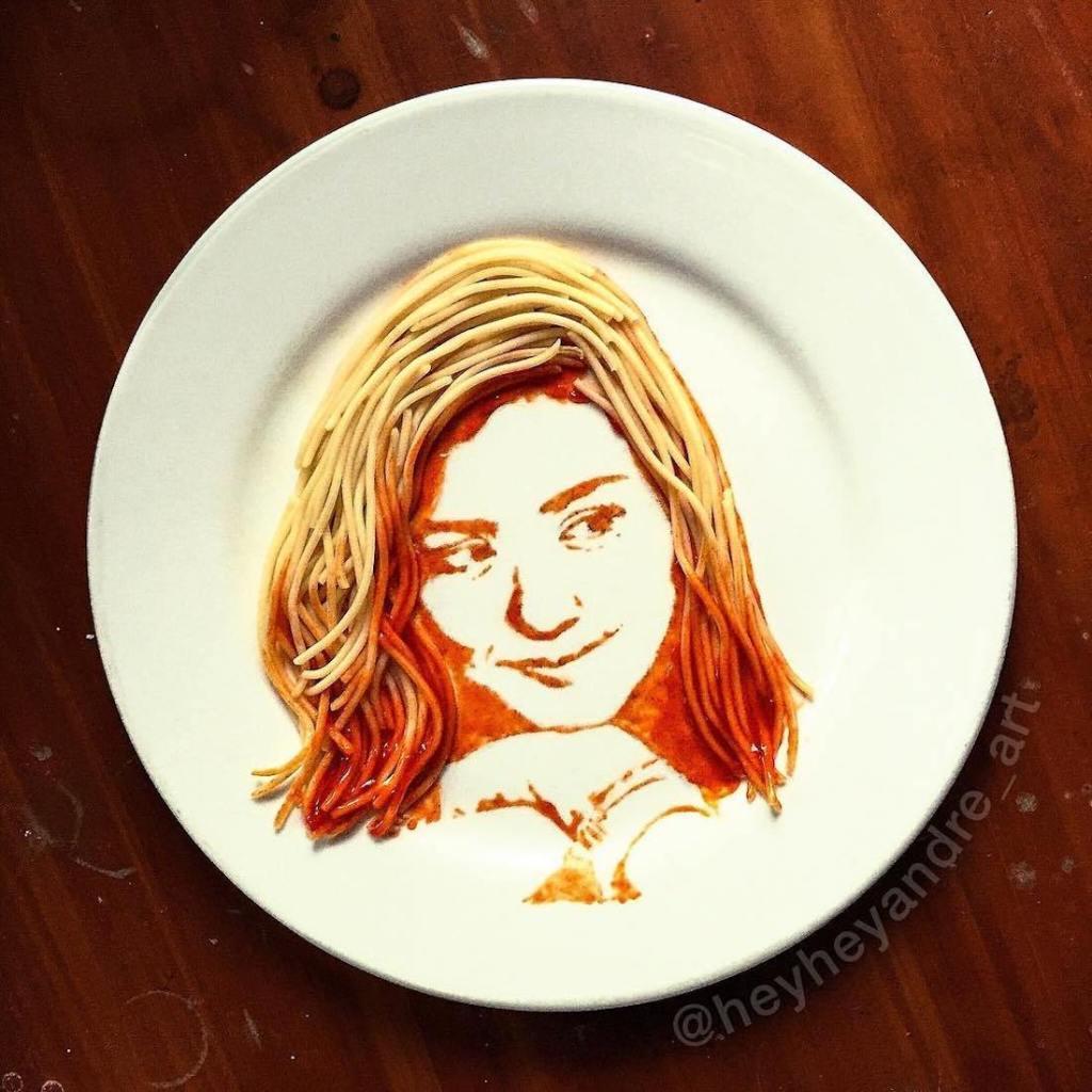 Artiste en nouilles de tomate. Portraits17