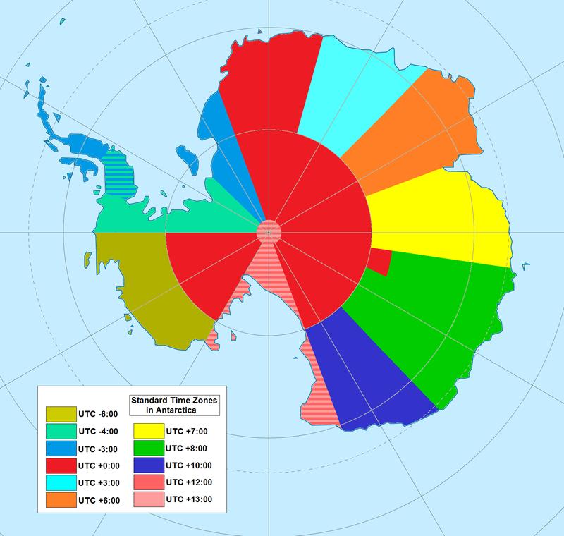 16 cartes qui vont changer votre façon de voir le monde ! La 8 est difficile à croire, mais c'est pourtant vrai ! UTC_hue4map_ATA.0
