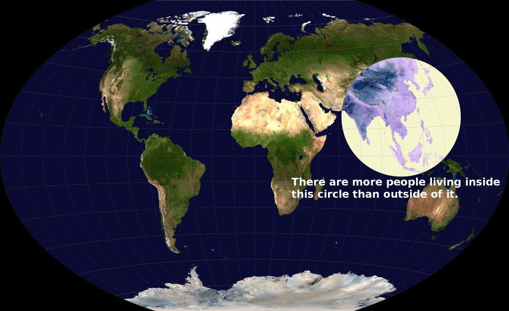 16 cartes qui vont changer votre façon de voir le monde ! La 8 est difficile à croire, mais c'est pourtant vrai ! Population-map-1024x626.0