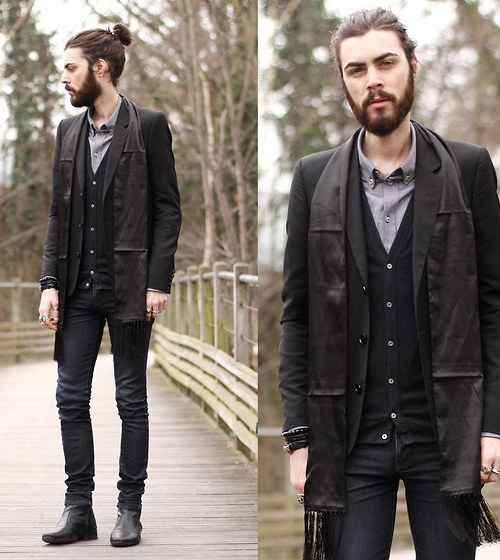 18 photos d 39 hommes chignons absolument irr sistibles - Hipster anzug ...