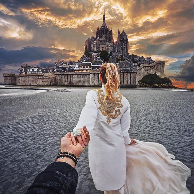 l 39 homme qui a suivi sa copine travers le monde s 39 est mari et les photos de son mariage sont. Black Bedroom Furniture Sets. Home Design Ideas