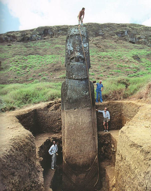 STATUE  DIVERS insolites  More-easter-island