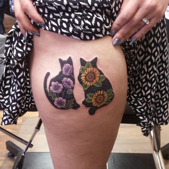 ces 25 tatouages de chats vous donneront sans aucun doute quelques id es le 6 est trop mignon. Black Bedroom Furniture Sets. Home Design Ideas
