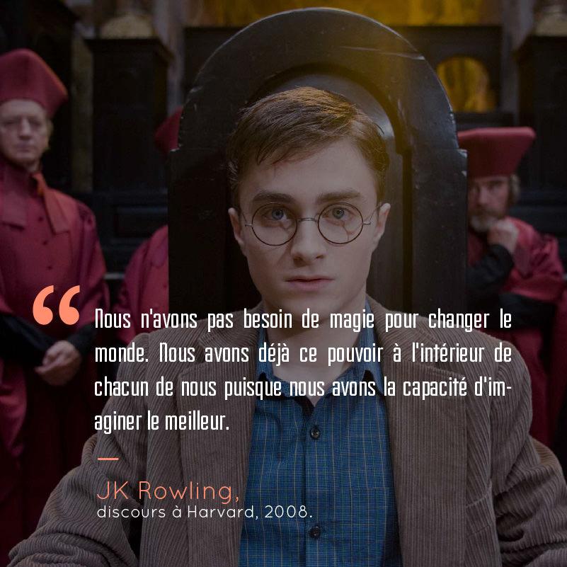 Voici 18 citations qui prouvent que harry potter et jk - Harry potter 8 et les portes du temps ...