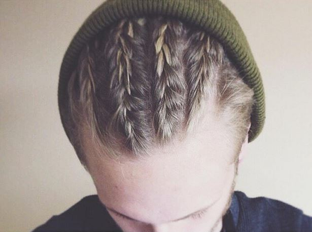 Coupe de cheveux homme tresse