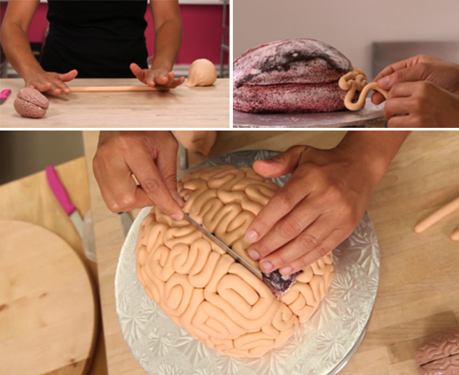 comment faire un g teau en forme de cerveau pour halloween le r sultat est bluffant. Black Bedroom Furniture Sets. Home Design Ideas