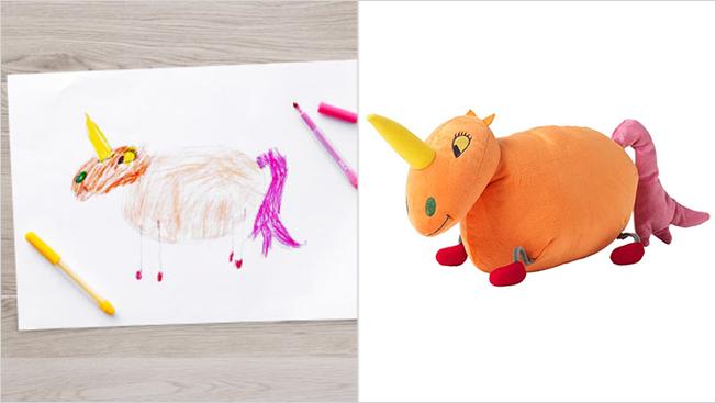 ikea donne vie 10 dessins d enfants en les transformant en peluches et en plus c est pour. Black Bedroom Furniture Sets. Home Design Ideas