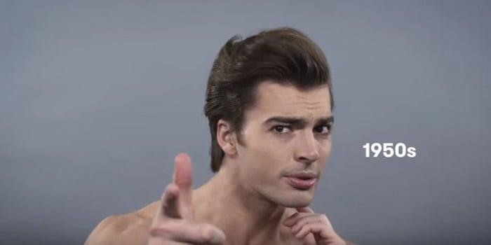 voici 100 ans d histoire des tendances de coupes de cheveux des hommes en vid o. Black Bedroom Furniture Sets. Home Design Ideas