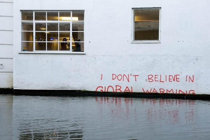 Imaginons le réchauffement climatique Banksy