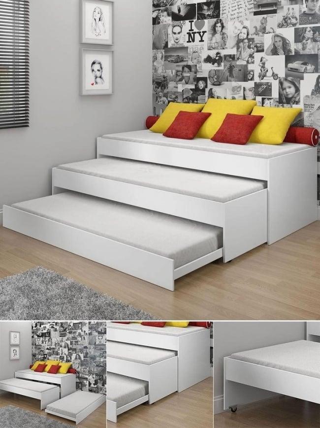 Si vous vivez dans un petit appartement voici 22 id es for Optimiser espace petite chambre