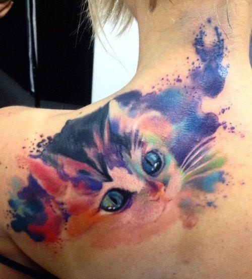 d couvrez 20 sublimes tatouages de chats qui devraient vous donner des id es. Black Bedroom Furniture Sets. Home Design Ideas