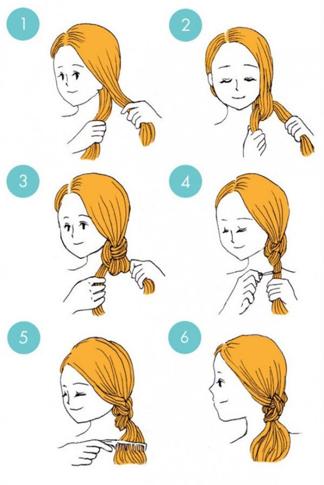 Make a ponytail on the side that is out of the ordinary.