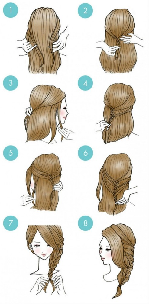 Start with a half-tail and turn it into a braid.
