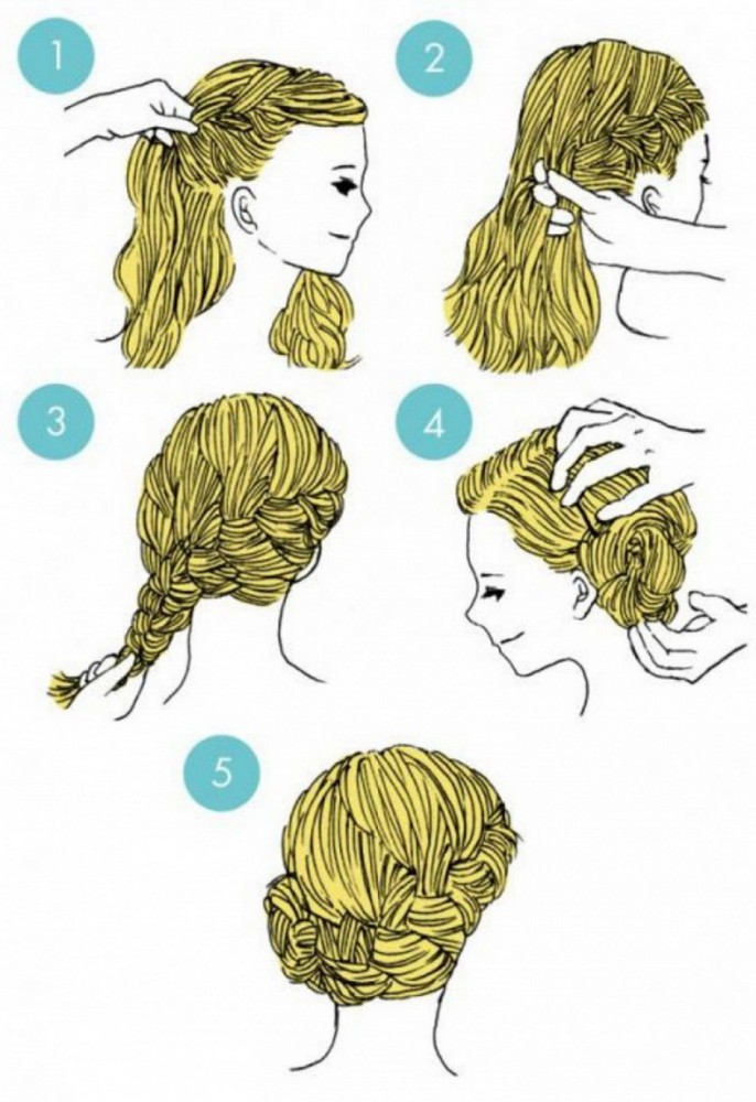 Very elegant and simple, this hairstyle is perfect for special occasions.