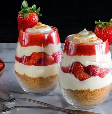 D couvrez le parfait la fraise un dessert l ger for Idee de dessert original