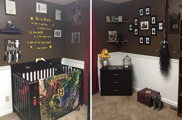 une maman d cide de faire une chambre sur le th me d 39 harry potter pour son futur b b. Black Bedroom Furniture Sets. Home Design Ideas