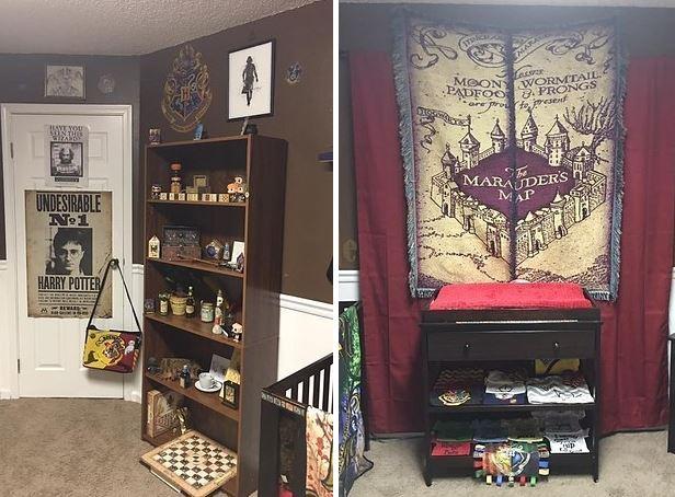 Une maman décide de faire une chambre sur le thème d\u0027Harry Potter pour son  futur bébé !