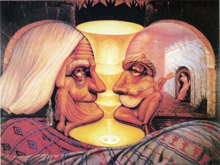 13 peintures aux illusions d 39 optique qui vont vous for Illusion d optique peinture