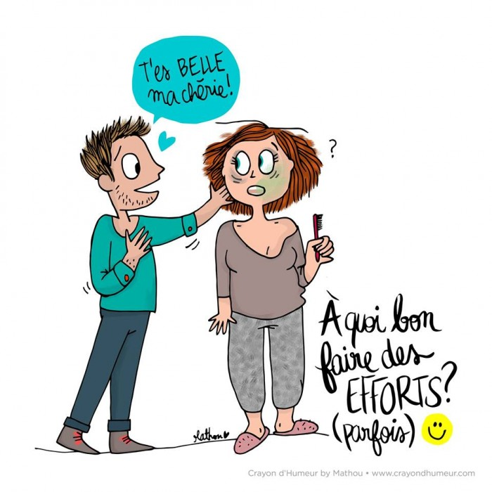 15 dessins sur la vie de couple au quotidien la 7 est - Dessin sur l amour ...