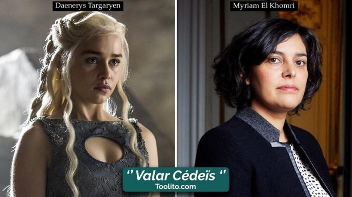 [Humour] - Nos politiques et Game of Thrones Daenerys-el-khomri
