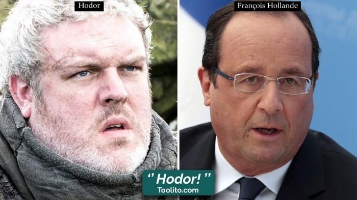 [Humour] - Nos politiques et Game of Thrones Hodor-hollande