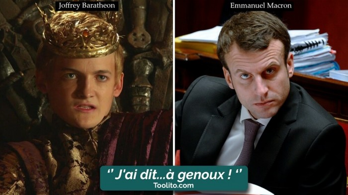 [Humour] - Nos politiques et Game of Thrones Joffrey-macron