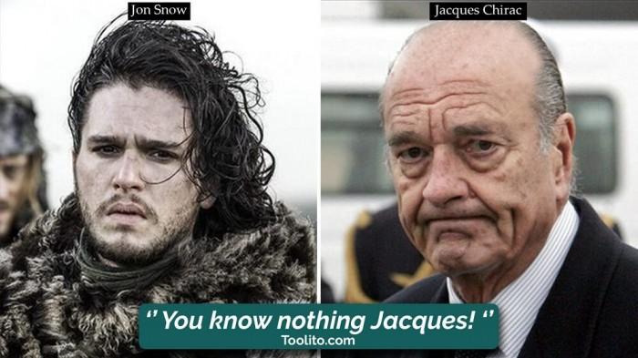 [Humour] - Nos politiques et Game of Thrones Jon-chirac