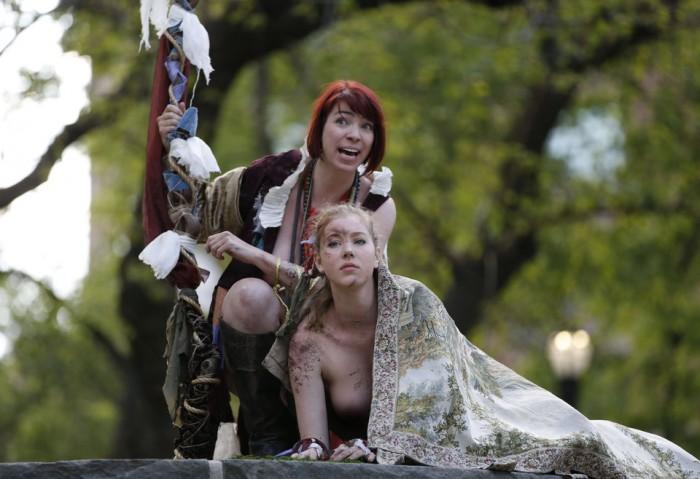 World news photos: Naked rage, naked Shakespeare, naked