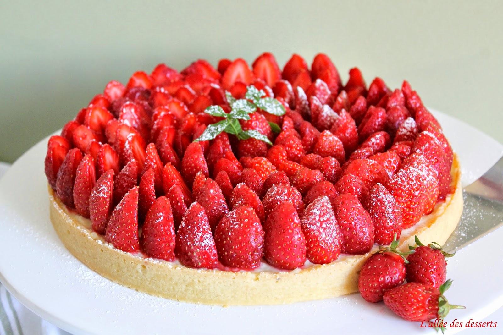Recette du jour la tarte aux fraises simple - Decoration tarte aux fraises ...