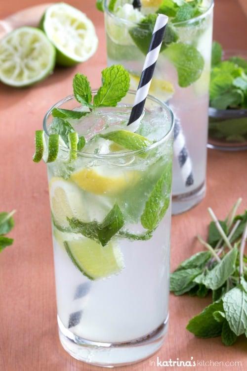 10 recettes de cocktails sans alcool - Recette mojito fraise pour 10 personnes ...