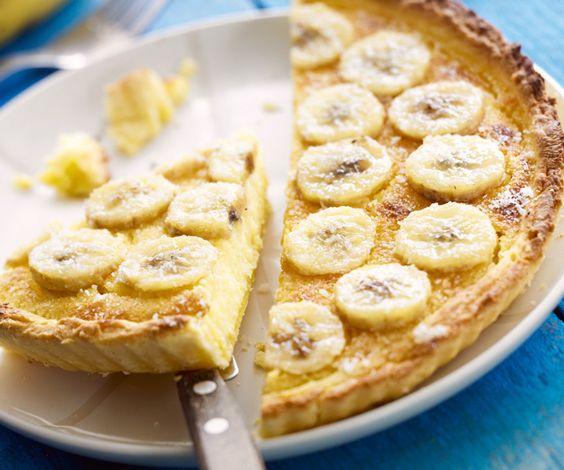 le dessert du jour la tarte aux bananes et 224 la cr 232 me