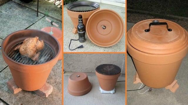 comment fabriquer un barbecue avec un pot en terre cuite une invention esth tique et discr te. Black Bedroom Furniture Sets. Home Design Ideas