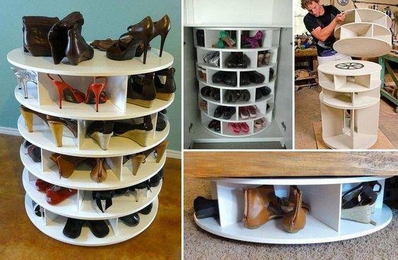 30 id es g niales de rangements pour toutes les pi ces de - Range chaussure gain de place ...