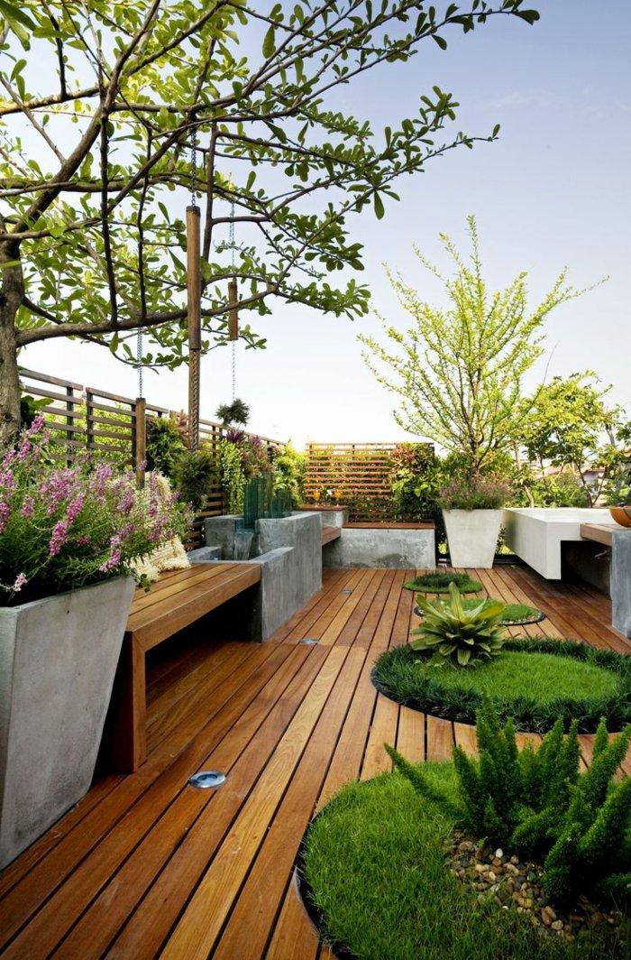 40 terrasses et balcons magnifiques qui vont vous inspirer pour am nager le v tre le 24 est. Black Bedroom Furniture Sets. Home Design Ideas
