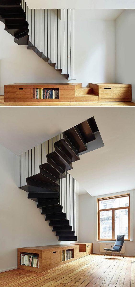 25 escaliers design d vorer des yeux de quoi vous. Black Bedroom Furniture Sets. Home Design Ideas