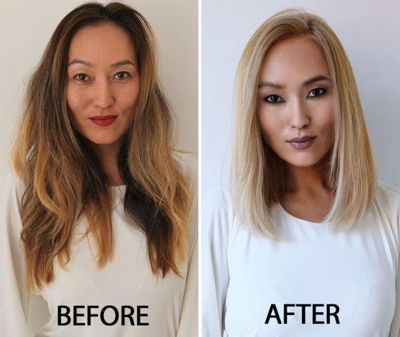 22 exemples de coiffures avant/aprÈs pour changer de look, tout en