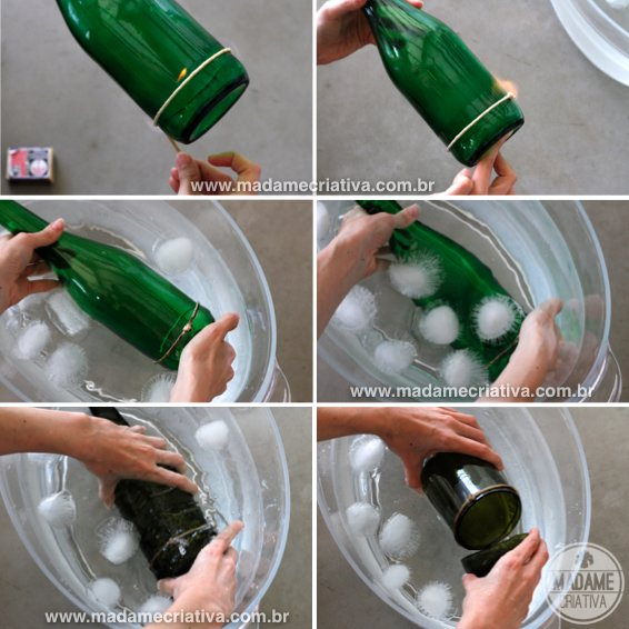 15 id es sympas et originales pour recycler vos bouteilles for How to cut a bottle to make a glass