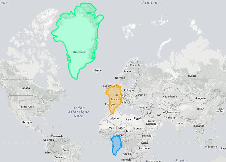 Carte Du Monde Realiste.Voici La Vraie Taille De Ces Pays Lorsque Vous Allez Voir