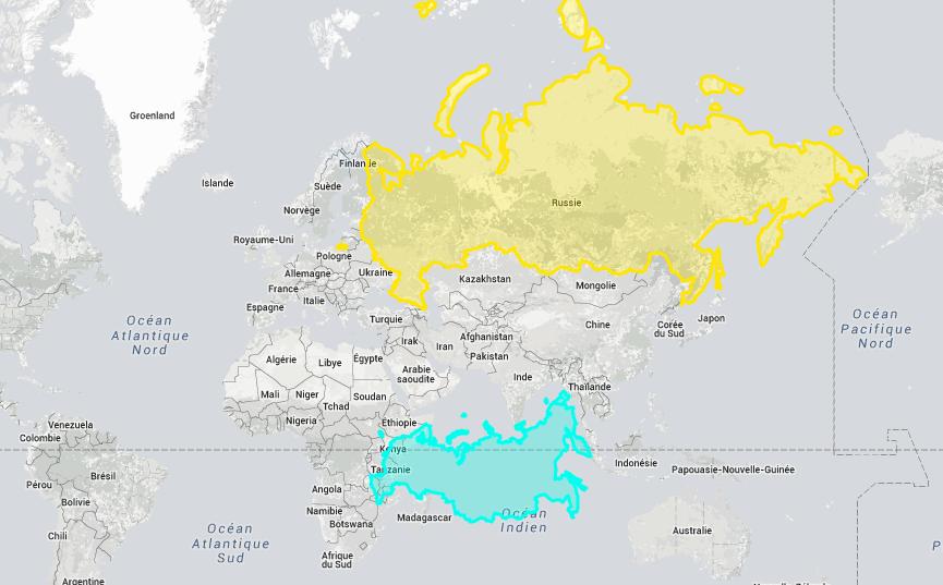 Carte Du Monde Realiste.Voici La Vraie Taille De Ces Pays Lorsque Vous Allez Voir Ce Que