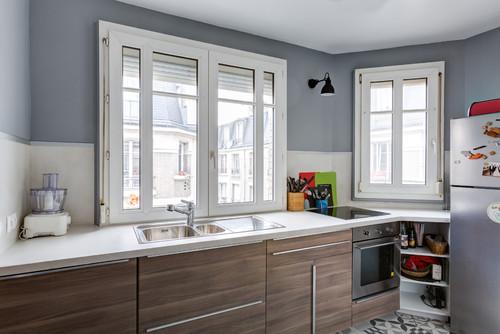 avec un budget r duit ce couple a r ussi r nover cette cuisine d 39 une mani re impressionnante. Black Bedroom Furniture Sets. Home Design Ideas