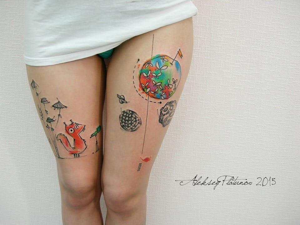 un artiste russe r alise de sublimes tatouages minimalistes empreints de po sie et d 39 rotisme. Black Bedroom Furniture Sets. Home Design Ideas